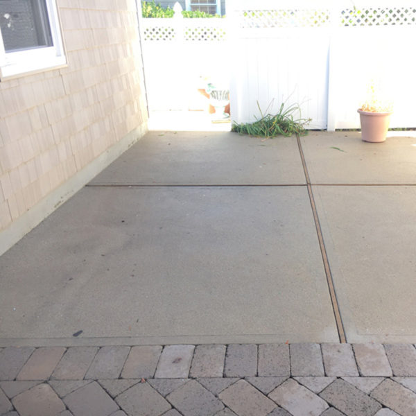 concrete power washed